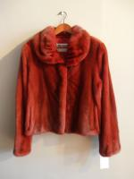 Red mink jacket - Approx size: S/M - Price: £2,950 (Ref C316)