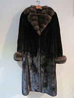 Blackglama mink coat with Russian sable collar and cuffs