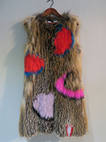 Knitted fox gilet