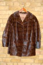 Dark brown mink jacket