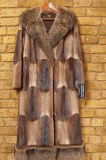 Vintage musquash coat with raccoon collar