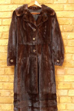 Vintage dark brown mink coat