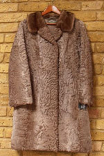 Vintage lamb coat with mink collar