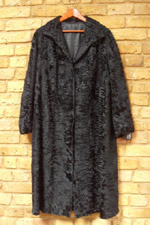 Vintage black lamb coat