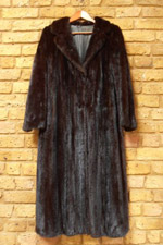 Vintage nearly black mink coat