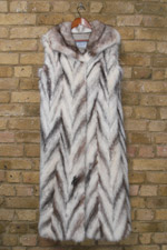 Full length crossed mink gilet