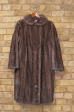 Smokey brown mink coat