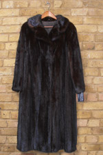 Dark brown mink coat