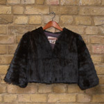 Cropped fur jacket