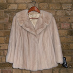 Dark mink jacket, new lining