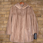 Pastel mink jacket with half belt