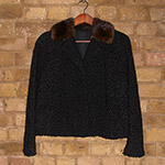 Short lamb jacket with mink collar