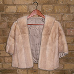 Champagne mink wrap with pockets