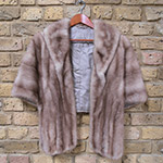 Caramel mink cape with pockets