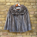 Blue iris mink jacket