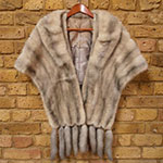 Silver mink wrap with detachable mink tails (as seen)