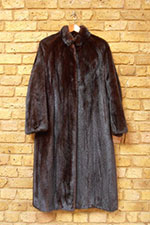 Natural black mink coat