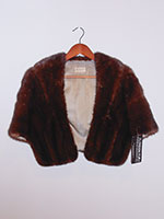 Dark brown mink cape