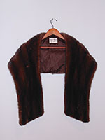 Dark brown mink wrap with pockets