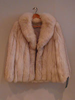 Full pelt blue fox jacket