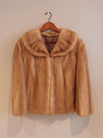 Blond mink cape