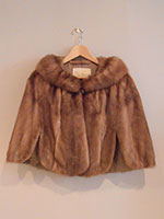 Light brown mink cape