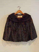 Short mahogany mink jacket