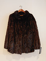 Scan black mink jacket