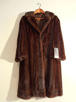 Brown mink coat (103cm)