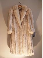 Blue fox coat (127cm)