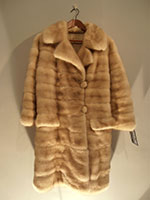 Azurine mink coat that zips off to a jacket