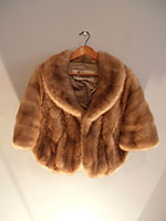 Mink cape with pockets
