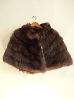 Dark brown fox cape