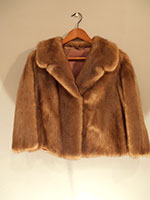 Saga cropped mink jacket