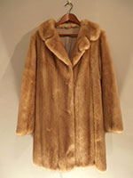 Vintage long mink jacket (113cm)