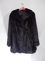 Short black mink coat (100cm)