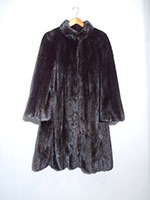 Brown/black mink swing coat (131cm)