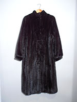 Black Revillon mink coat (151cm)