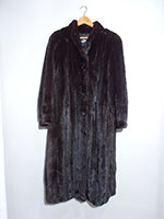 Extra long black mink coat (151cm)