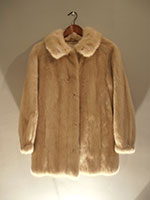 Long blond mink jacket (95cm)