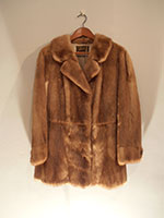 Mid brown long mink jacket