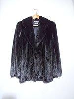 Harrods black mink jacket