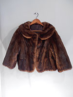 Relined mid brown mink cocktail jacket