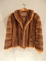 Mink jacket with looped fur sleeves