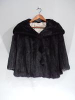 Black mink jacket - Approx size: L/M - Price: £1,190 (Ref V442)