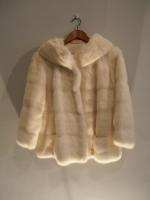 Off-white mink jacket  - Approx size: M - Price: £1,350 (Ref V443)