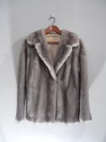 Grey mink jacket - Approx size: M - Price: £790 (Ref V448)