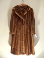 Mid brown mink coat - Approx size: M/S - Price: £1,150 (Ref V450)