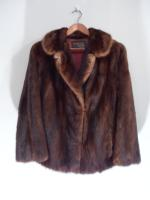 Dark brown mink jacket - Approx size: M - Price: £590 (Ref V455)