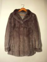 Dark grey mink jacket - Approx size: L - Price: £850 (Ref V461)